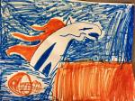 Broncos Drawing Contest Winner